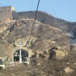 great wall of china at badaling cable car