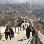 the great wall at badaling outside beijing china