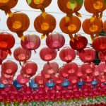 Korea Buddhist lotus lanterns