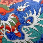 asian dragon painting in south korea