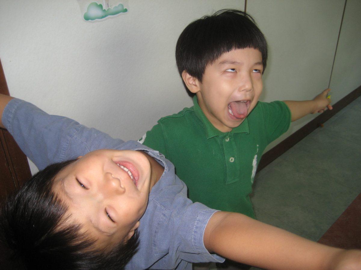 korean kids going crazy