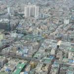 ariel view of busan south korea